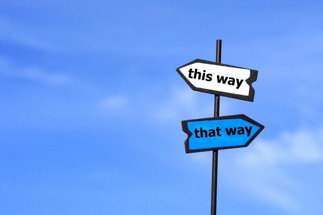 選択の矢印